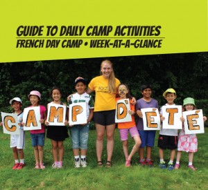 weekly guide for French Day Camps