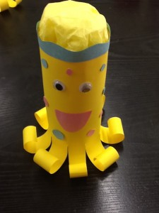 French camp crafts: octopus
