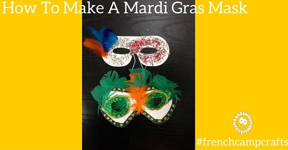 How to make a mardi gras mask