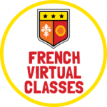 French virtual classes icon.