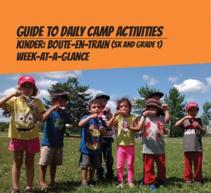 Weekly schedule for French day camps for 6 years old