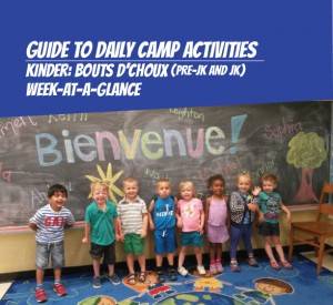 Weekly schedule for French Camps for 4-5 years old